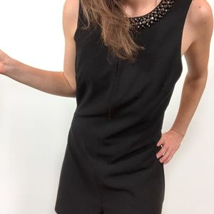 Topshop Black Diamante Beaded Neckline Romper